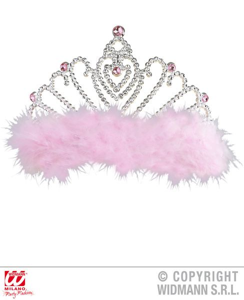 Tiara With Marabou Crown World Book Day Fancy Dress