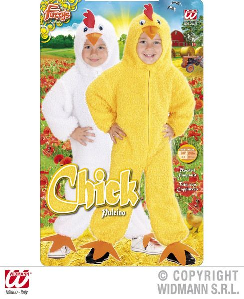 Toddler Fuzzy Chick Toddler - 2 Styles Costume Animal Fancy Dress