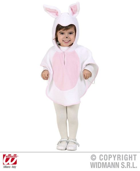 Toddler Plush Bunny Poncho Costume Animal Fancy Dress