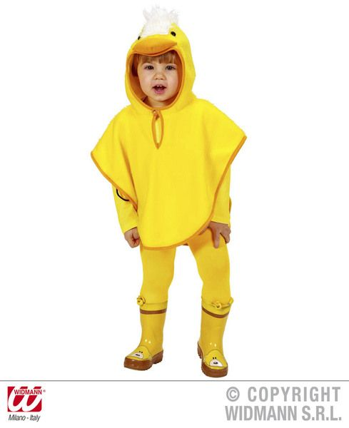 Toddler Plush Chick Poncho Costume Animal Fancy Dress