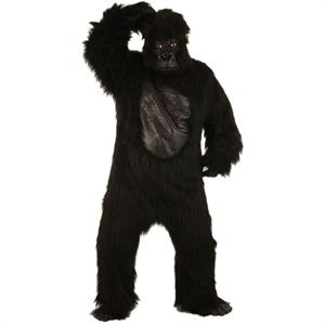 Adult Deluxe 6pc Gorilla Suit Costume for Animals Creatures Fancy Dress Mens