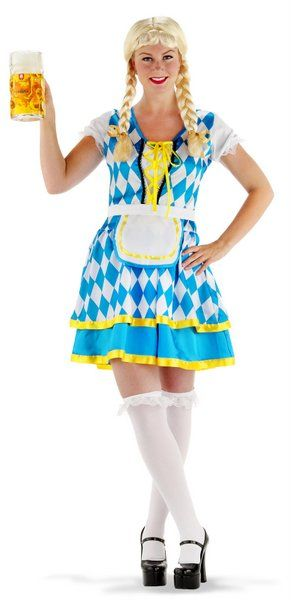 Adult Oktoberfest Dress Tiroler Blue German Bavarian Octoberfest Beer Festival