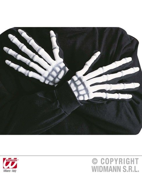 Adult Skeleton Gloves 3D Halloween Walking Dead Trick Or Treat Fancy Dress