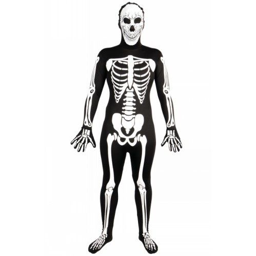 Adult Skinz Skeleton G.I.D Costume for Body Skin Suit Fancy Dress Mens Ladies
