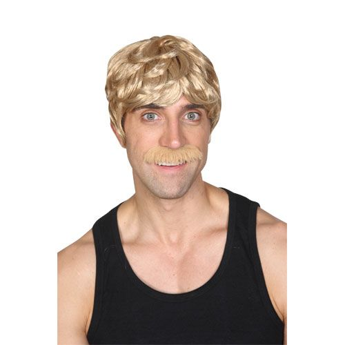Adult Unisex 70's Cool Dude Wig for Disco Fancy Dress Mens or Ladies