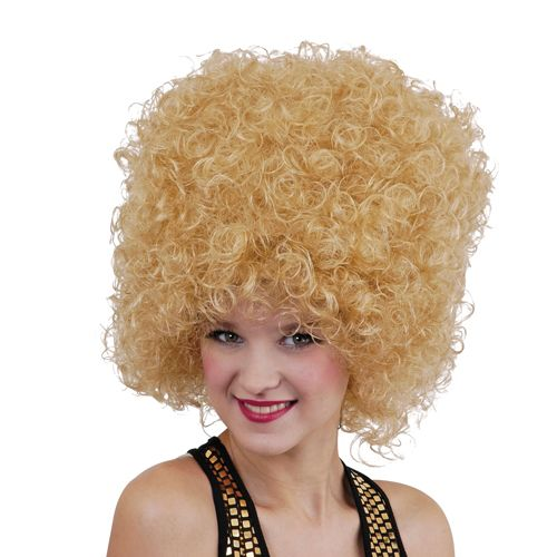 Adult Unisex 70's Disco Afro Wig Outfit Accessory for Fancy Dress Mens Ladies Blonde