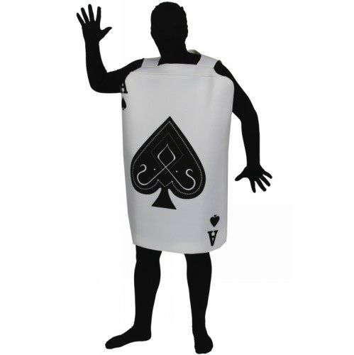 Adult Unisex Ace of Spades Costume Outfit for Fairytale Fancy Dress Mens Ladies