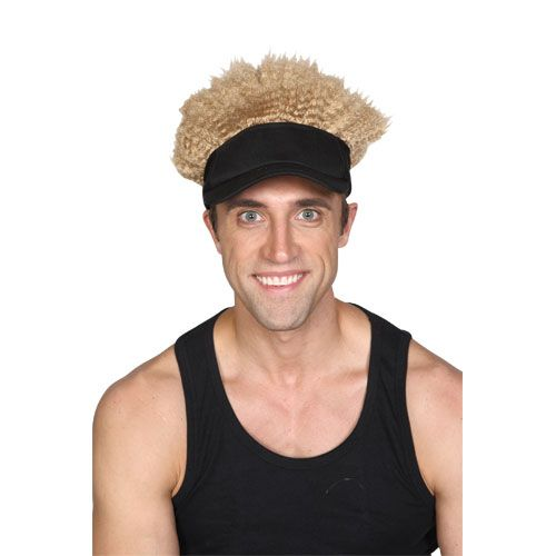 Adult Unisex Crazy Hat & Hair Wig for Fancy Dress Mens or Ladies