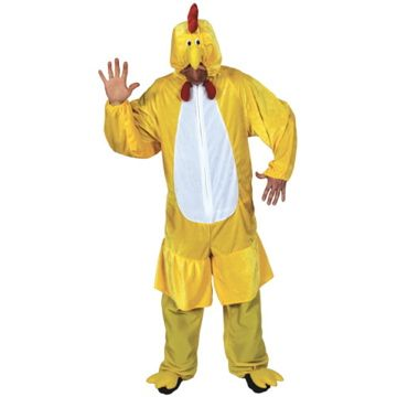 Adult Unisex Deluxe Chicken Costume Outfit for Animals Creatures Fancy Dress