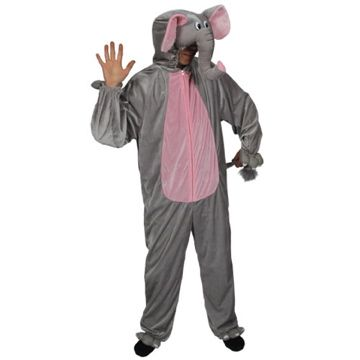 Adult Unisex Deluxe Elephant Costume Outfit for Animals Creatures Fancy Dress