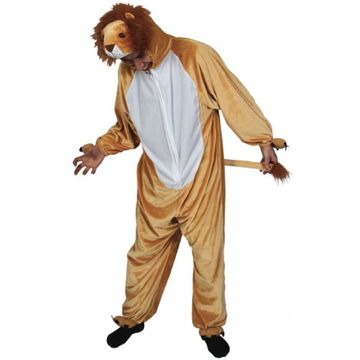 Adult Unisex Deluxe Lion Costume Outfit for Animals Creatures Fancy Dress