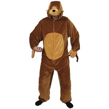 Adult Unisex Deluxe Monkey Costume Outfit for Animals Creatures Fancy Dress