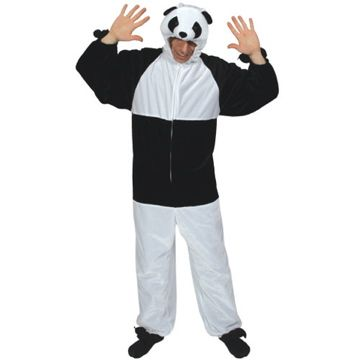 Adult Unisex Deluxe Panda Costume Outfit for Animals Creatures Fancy Dress
