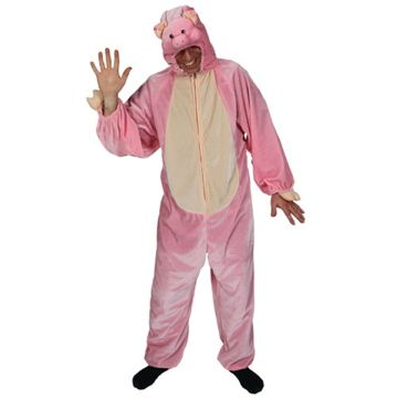 Adult Unisex Deluxe Porky Pig Costume Outfit for Animals Creatures Fancy Dress