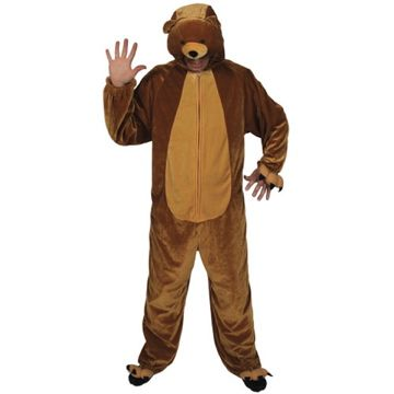 Adult Unisex Deluxe Teddy Bear Costume Outfit for Animals Creatures Fancy Dress