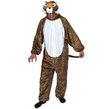 Adult Unisex Deluxe Tiger Costume Outfit for Animals Creatures Fancy Dress