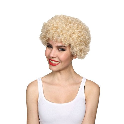 Adult Unisex Funky Afro Wig 70s Disco Fancy Dress