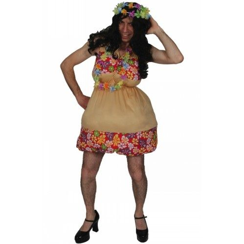 Adult Unisex Hot Hula Honey Costume Outfit for Hawaiian Fancy Dress Mens Ladies