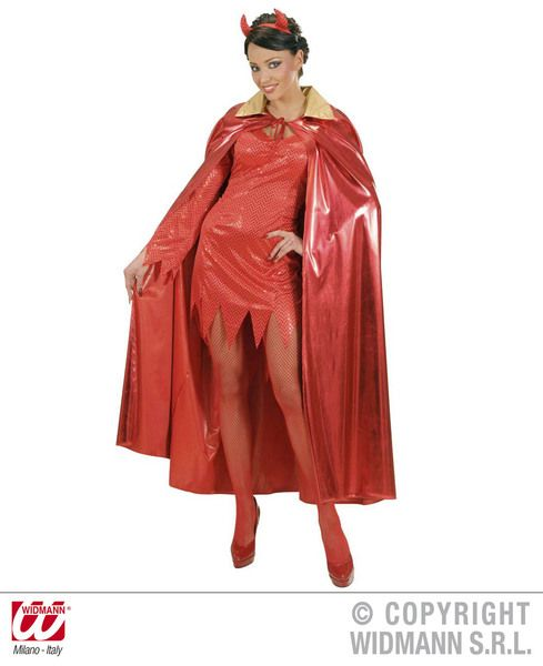 Adult Unisex Metallic Red Villian Super Hero Superhero Fancy Dress