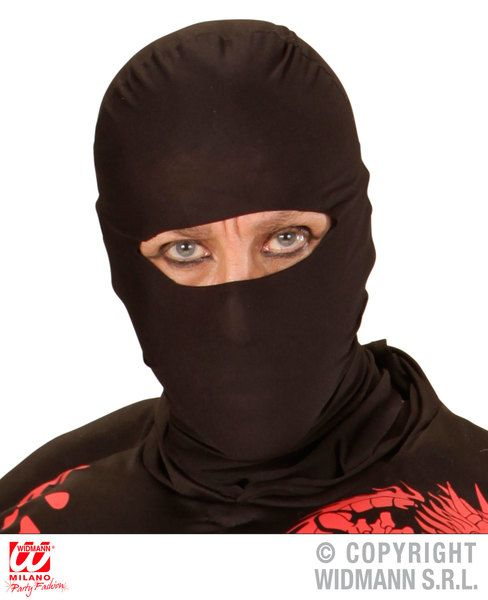 Adult Unisex Ninja Mask Chinese Martial Arts Fighter Fancy Dress
