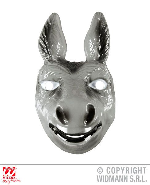 Adult Unisex Pvc Donkey Mask Size Ass Animal Shrek Nativity Fancy Dress