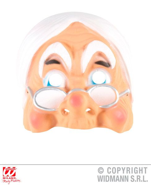 Adult Unisex Pvc Grandma Mask Size Granny Oap Senior Fancy Dress