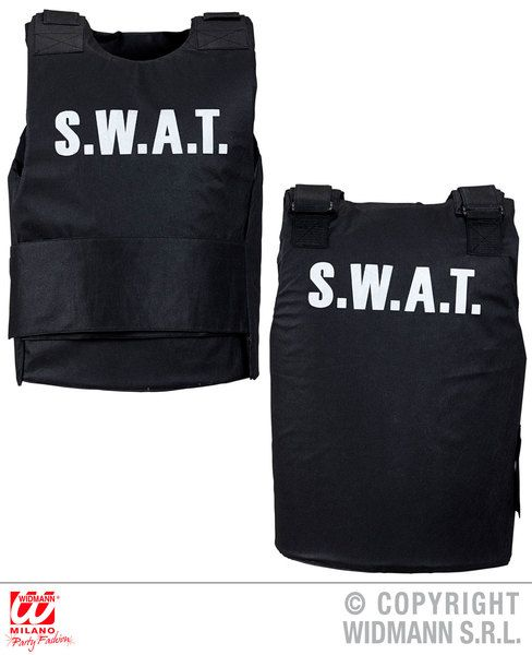 Adult Unisex Swat Vest Cop Policeman Police Military Uniform Fancy Dress
