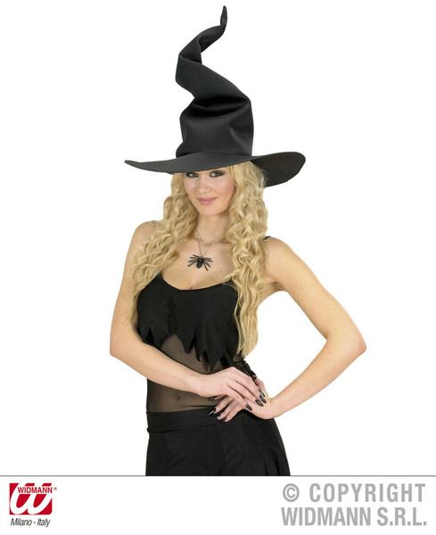 Adult Unisex Weird Witch Hat Halloween Wicked Villian Fancy Dress