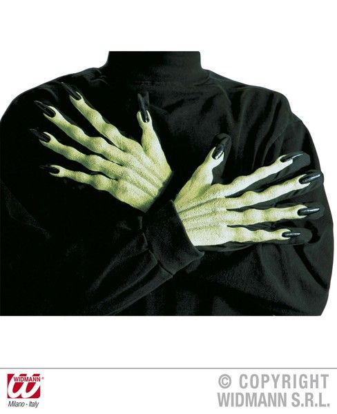 Adult Unisex Witch Gloves 3D Halloween Wicked Villian Fancy Dress