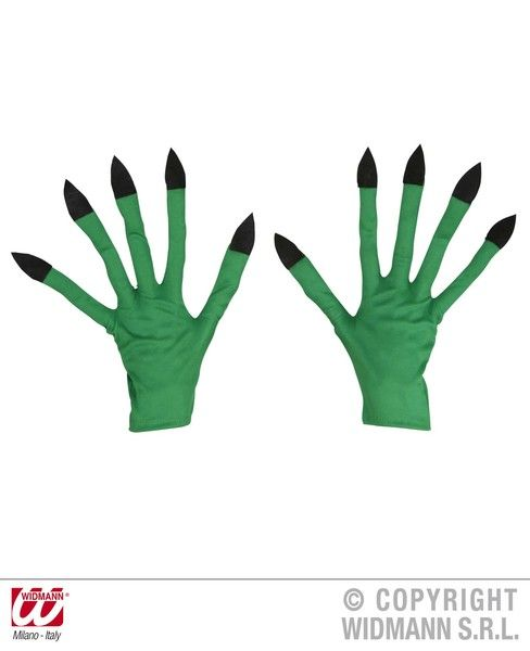 Adult Unisex Witch Gloves Halloween Wicked Villian Fancy Dress