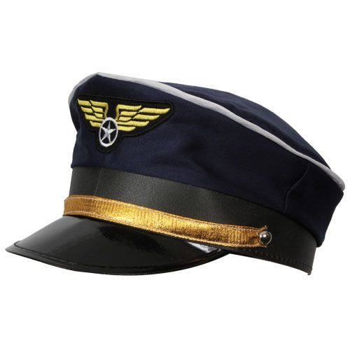 Airline Pilots Cap Hat for Air Stewardess Cabin Crew Fancy Dress