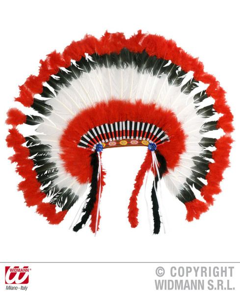 American Indian Headdress Hat United States America Usa Fancy Dress
