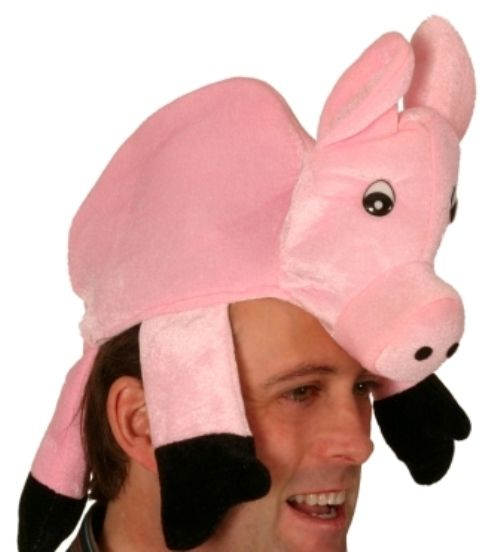 Animal Hat Pig Pink with Funny Eyes Nature Zoo Wildlife Book Week