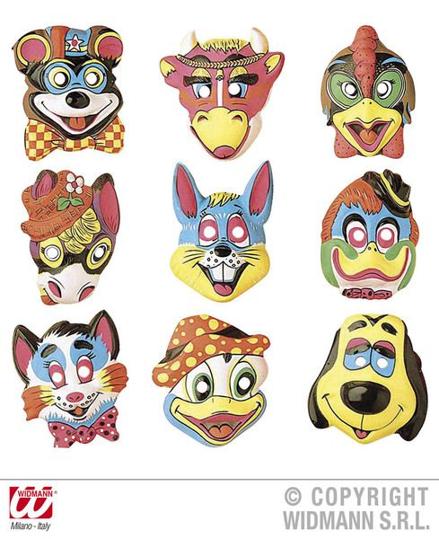 Animal Mask Plastic 9 Styles Nature Zoo Wildlife Book Week Fancy Dress
