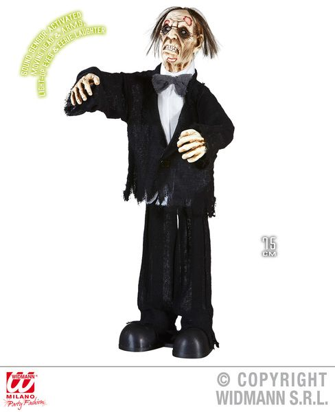 Animated Zombie Groom 75cm Decoration Halloween Walking Dead Trick Treat Party