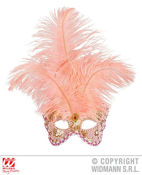 Apricot Baronesse Mask Decorated Pantomime Dame Fairytale Fancy Dress