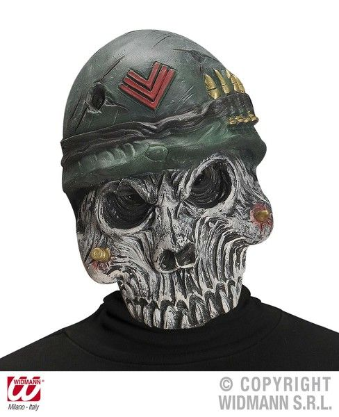 Army Skull Mask Military Uniform Soldier Fancy Dress