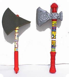 Axe Gold & Grey 45cm x 18cm Gaul Viking Torture Toy Weapon