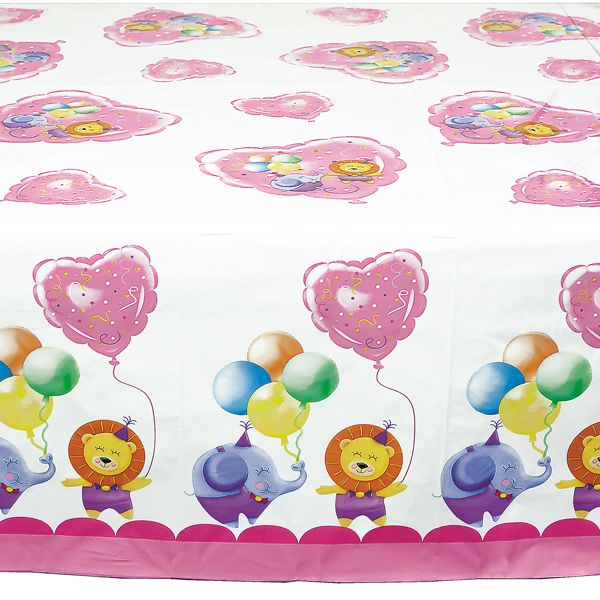 Baby Girl Party Table Cover 140 x 240cm