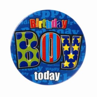 Badge 5cm Happy Birthday Birthday Boy