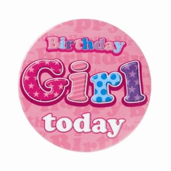 Badge 5cm Happy Birthday Birthday Girl