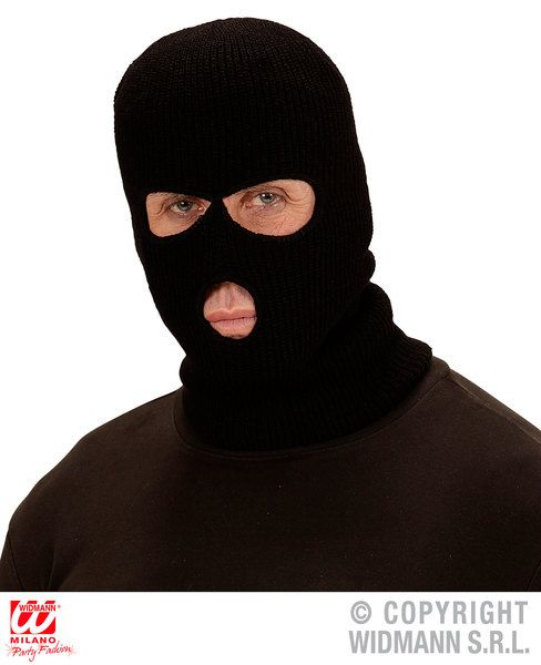 Balaclava Mask Bank Robber Thieve Loot Bandit Gang Fancy Dress