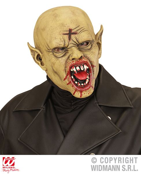 Bald Vampire Mask Halloween Dracula Vamp Fancy Dress