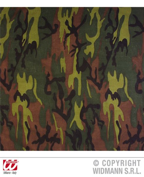 Bandana Camouflage 55cm Hat Biker Pirate 90s Rock Fancy Dress