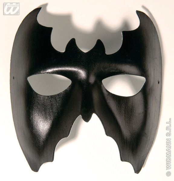 Bat Eyemask Leatherlook Dracula Halloween Vampire Fancy Dress