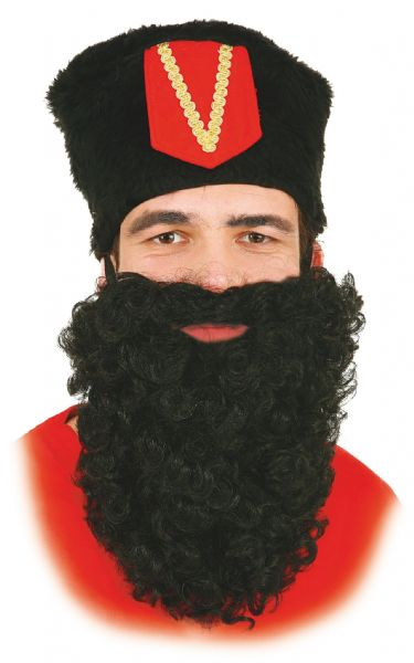 FAKE BLACK ORIENTAL CHINESE MOUSTACHE TASH Mens Fancy Dress
