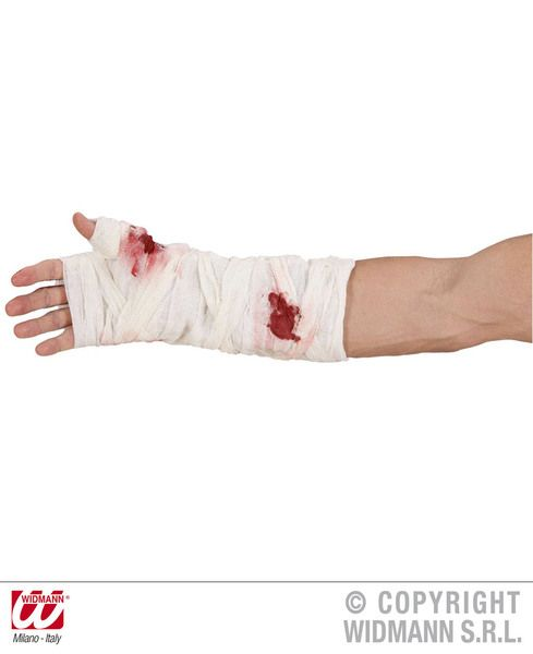 Bloody Arm Bandages SFX Vampire Zombie Bleeding Fancy Dress