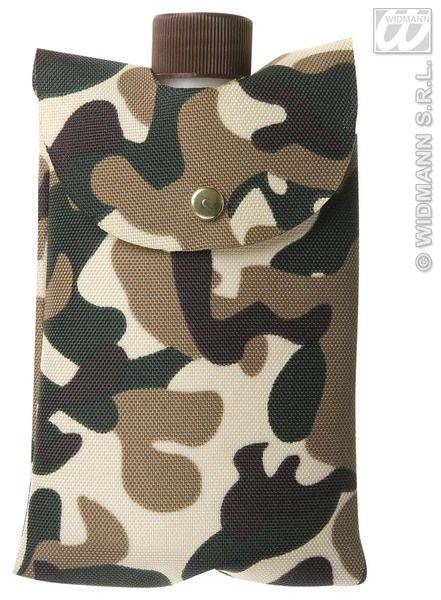 Bottle In Camouflage Bag Soldier Army Private Fancy Dress