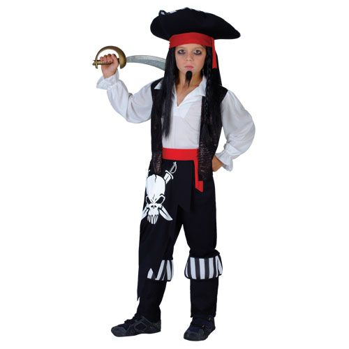 Boys Captain Blackheart Costume for Commander General Commadore Fancy Dress