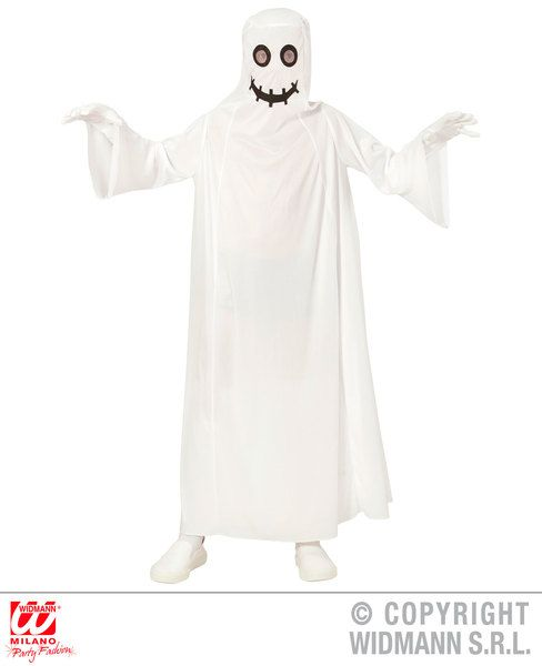 Boys Cartoon Ghost Costume Scary Creepy Halloween Fancy Dress Cosplay Outfit